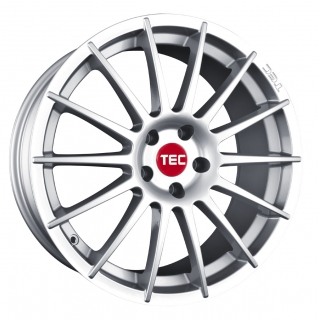 TEC AS2 7x17 4x100 ET42 CRYSTAL SILVER