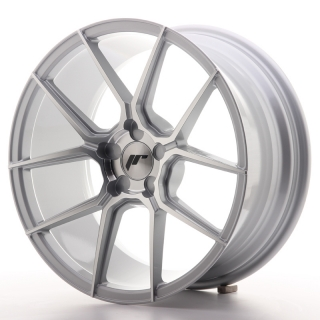 JR30 8,5x18 5H BLANK ET20-40 SILVER MACHINED