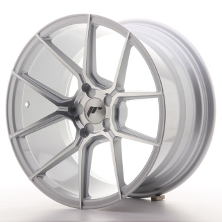 JR30 9,5x18 5H BLANK ET20-40 SILVER MACHINED
