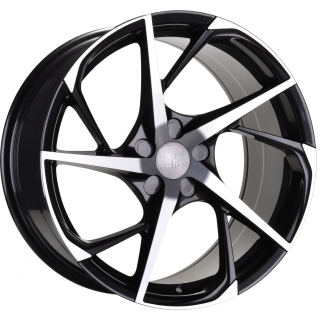 BOLA B18 8,5x19 5x114,3 ET25-45 BLACK POLISHED FACE