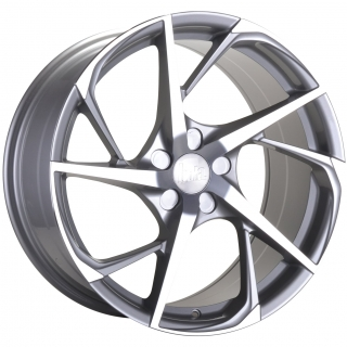 BOLA B18 9,5x19 5x118 ET25-45 SILVER POLISHED FACE