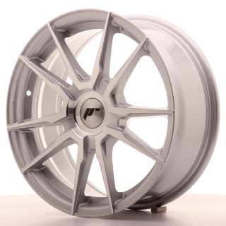 JR21 7x17 5x108 ET25-40 SILVER MACHINED