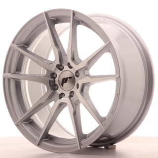 JR21 8x17 4x100/108 ET25 SILVER MACHINED