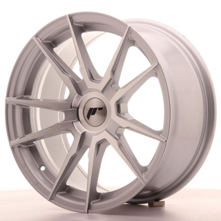 JR21 8x17 4x100 ET35 SILVER MACHINED