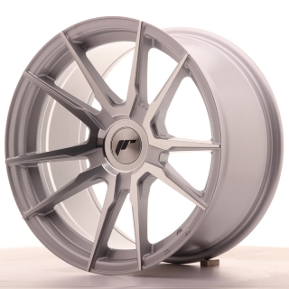 JR21 9x17 4x100 ET25-35 SILVER MACHINED