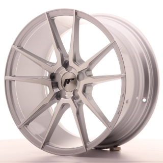 JR21 8,5x18 5H BLANK ET40 SILVER MACHINED