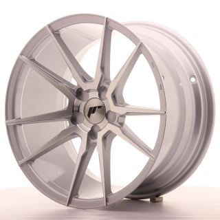 JR21 9,5x18 5H BLANK ET30-40 SILVER MACHINED