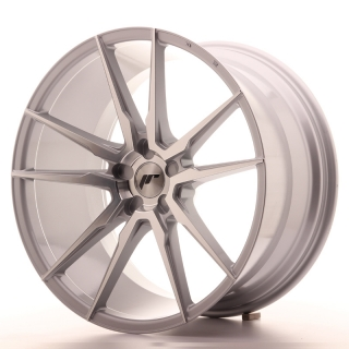 JR21 11x21 5x110 ET15-55 SILVER MACHINED