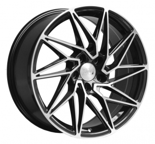 1AV ZX10 8x18 5x118 ET40 BLACK / POLISHED FACE