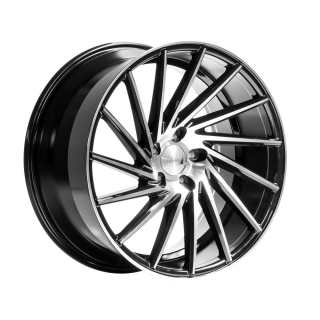 1AV ZX1 8x18 5x105 ET42 BLACK / POLISHED