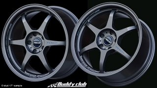 BUDDY CLUB P1 RACING SF 7x15 4x100 ET40 GUNMETAL