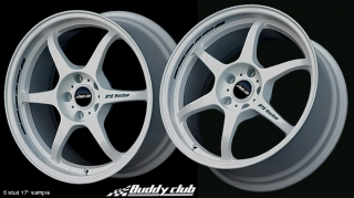 BUDDY CLUB P1 RACING SF 7x15 4x100 ET40 WHITE