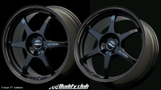 BUDDY CLUB P1 RACING SF 7x16 4x100 ET42 SATIN BLACK