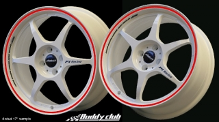 BUDDY CLUB P1 RACING SF 7x16 4x100 ET42 WHITE+RED