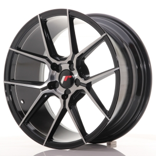 JR30 8,5x18 5x100 ET20-40 BLACK BRUSHED w/ TINTED FACE