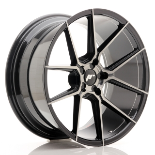 JR30 10x20 5x130 ET20-40 BLACK BRUSHED w/TINTED FACE