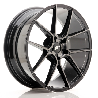 JR30 8,5x20 5x130 ET20-40 BLACK BRUSHED w/TINTED FACE