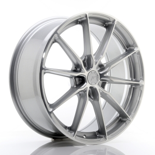 JR37 8,5x20 5x130 ET20-45 SILVER MACHINED FACE