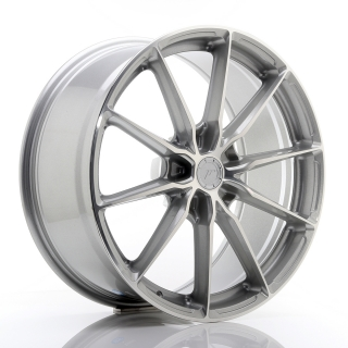 JR37 9x20 5x130 ET20-45 SILVER MACHINED FACE