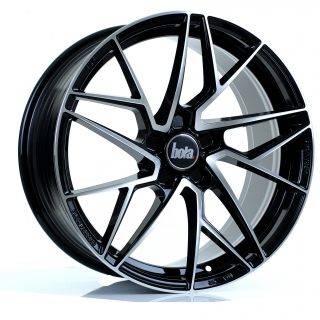 BOLA FLR 8,5x18 5x110 ET40-50 GLOSS BLACK POLISHED FACE