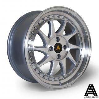 AUTOSTAR VADER 8x17 4x100 ET35 PF SILVER