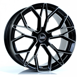BOLA FLF 9,5x19 5x100 ET45-50 GLOSS BLACK POLISHED