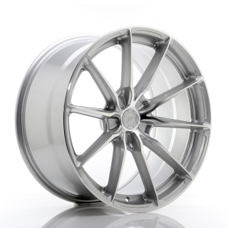 JR37 10x20 5x118 ET20-45 SILVER MACHINED FACE